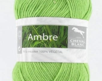Yarn was Amber Green Apple no. 276 white horse