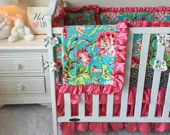 Girl Crib Bedding Etsy