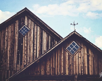 Historic Barn, old barn, weather vane, fine art print, wall art, ranch photo, photo, photograph