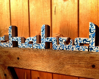 Wooden name * wooden letters * Oriental style