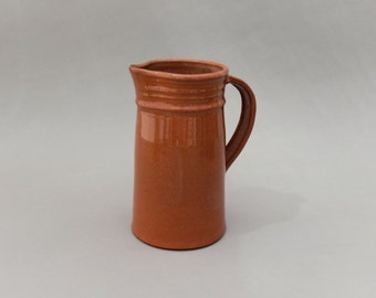 Terracotta Pottery Ceramic Pitcher, Large Creamer