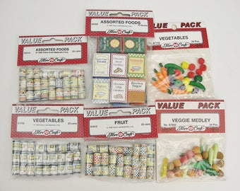 Dollhouse food cans or boxes assorted choices