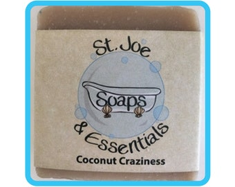 Coconut Craziness Soap, Handmade Soap, All Natural Soap, Organic Saponified Olive Oil, Coconut Oil, Shea Butter, Fragrance Oil