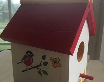 Birdhouse with warbler//gifts