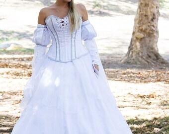 Corseted Fairy Princess Bridal Ballgown