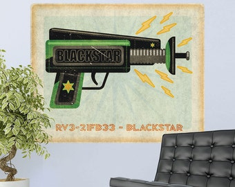 Blackstar Ray Gun Toy Lunastrella Wall Decal - #64324