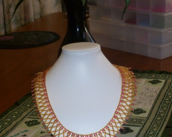 Warm Glow-A Cleopatra-style necklace
