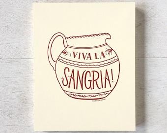 Viva la Sangria art print