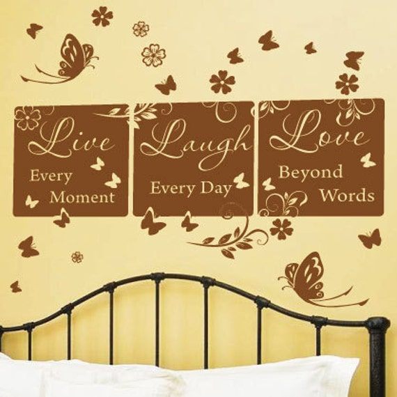 Family Live Laugh Love Wall Quotes Wall Art / Wall Stickers /