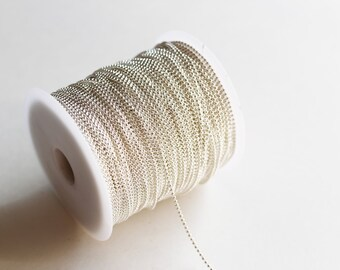 330ft Silver Plated Ball Chain Spool - 1.5mm - 100M - Ships IMMEDIATELY from California - CH602