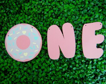 Ready to Ship, Donut Grow up Banner, First Birthday Banner, 1st Birthday, Donut Party, Donut Birthday Banner, Highchair Banner