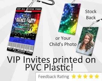 Dance Party Invitation PLASTIC Dance Party, Dance Party Invitation, Birthday Invitation, Birthday Invite, Dance Party Birthday SKU-INV076