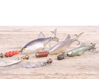 Old Fishing Lures / Mepps Fishing Lures / Fishing Decor / Vintage Fishing Lure / Rubber Fishing Lure / Old Fishing Lure / Fishing Gift