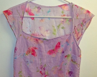 Charming Summmer Dress   Mauve  Petite to  Small size