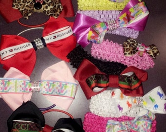Handmade Hair Bows, Bow ties and Baby Headbands