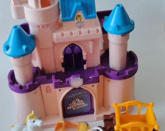 1 Vintage RARE Cinderella Dream Castle SET - Disney Princess Folding Toy, Pretend Play, Kids Birthday Gift, Girl Gift, 80s 90s Collectible
