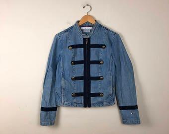 Vintage Tommy Hilfiger Jacket, Vintage Denim Jacket, 90s Denim Jacket M