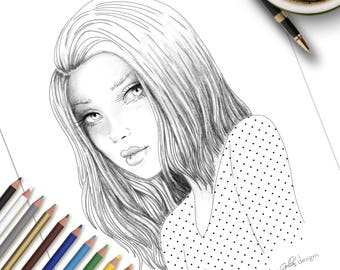 Coloriage imprimable Page Emily