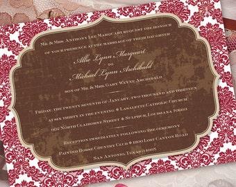wedding invitations, cranberry wedding invitations, wedding package, bridal shower invitations, cranberry bridal shower invitations