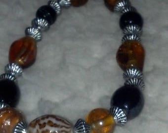 Multi-Color Glass Bead Bracelet