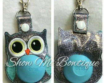 Owl Sphere lip balm Key Fob design Instant Download