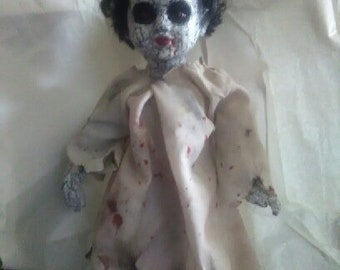 Creepy Chris- OOAK, porcelain doll, artwork, art doll