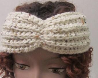 Ribbed Butterfly Headband, Crochet Headband