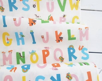 Kinder - Alphabet(Cream Background) - Heather Ross - Windham Fabrics