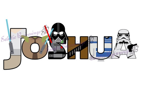 star wars letters personalized custom disney wars letters name digital file 44460