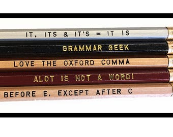 Set of 5 Assorted Grammar Pencils