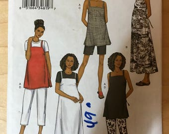 Butterick 3403 - Maternity Sleeveless Top or Dress, Cropped Pants, and Shorts - Size 14 16 18