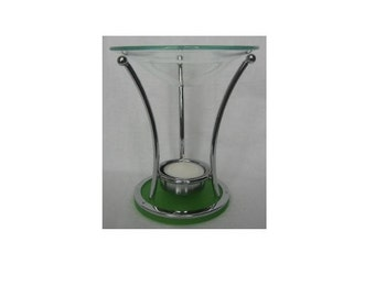 Green Modern Art Oil Warmer
