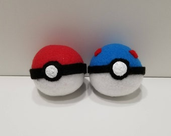 Hand-made Great Ball Pokeball Catnip Filled Cat Toy