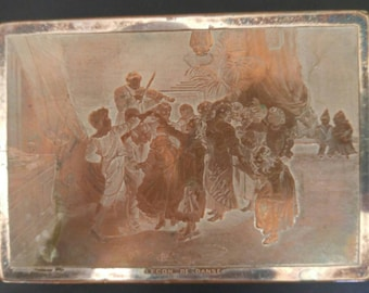 Antique Rare Lecon De Danse Snuff Box/Trinket Box 1850-1899