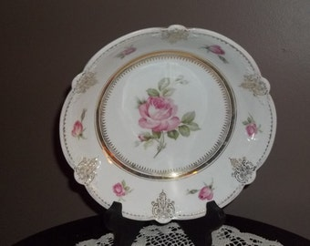 Germany Serving bowl with roses and gold scrolls