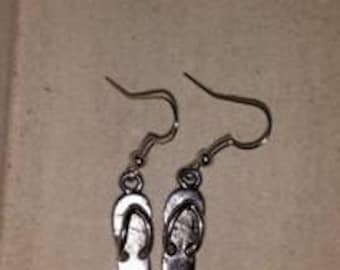 Silver Flip-Flop Earrings