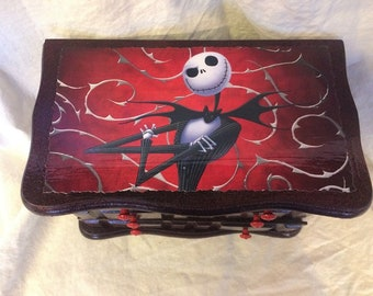 Nightmare Before Christmas Jack Skellington Upcycled Jewelry & Trinket Box