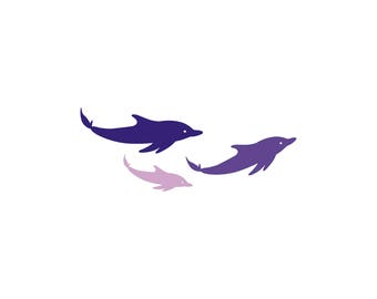 Pod of Dolphins Family Car Decal