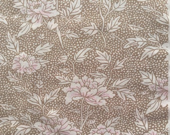 Kaffe Fassett Peony taupe FQ or more OOP HTF