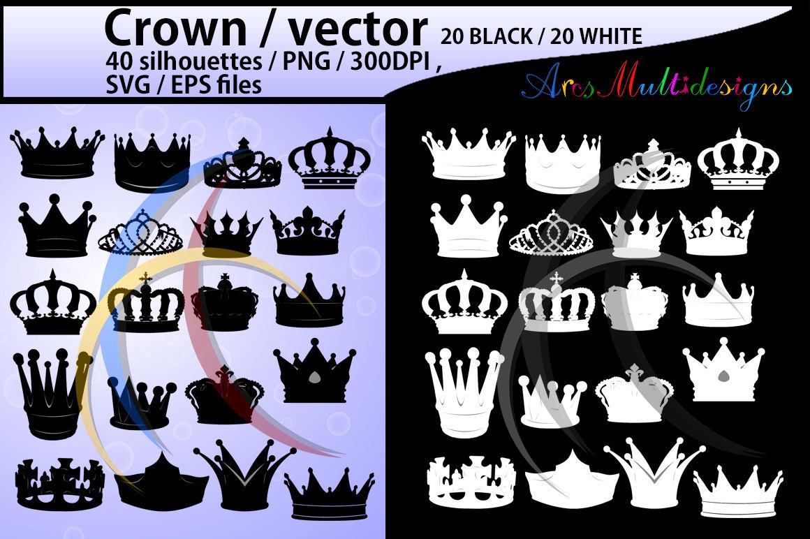 Krone Svg / hochwertige /crown Clipart / Kontur Krone / Krone
