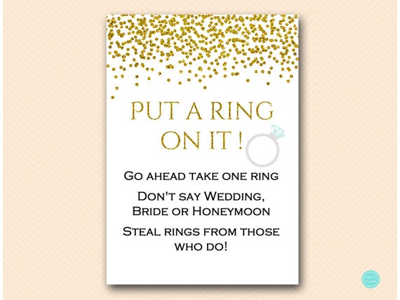 Crafty image throughout put a ring on it bridal shower game free printable