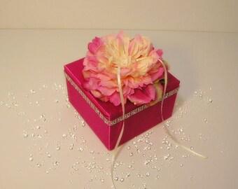Custom Wedding ring bearer box / flower  -Custom order.