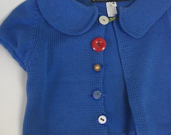 Kid's Blue Cotton Handmade Sweater