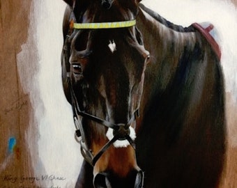 Racehorse Limited Edition Giclee Print of Might Bite