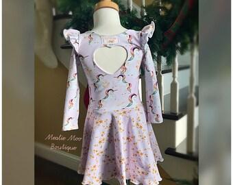 2T Girls unicorn dress 2t READY TO SHIP!!! Size 2t