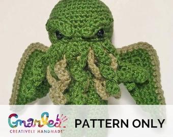 PATTERN ONLY - Crochet/Handmade Cthulhu Amigurumi Figure
