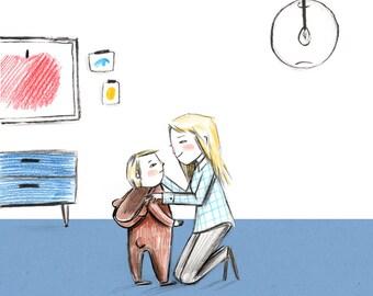 A Bear Suit for her Little Cub Fine art Print