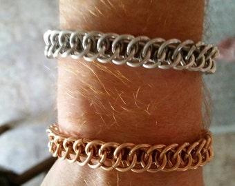 Bronze reversible chainmail bracelet