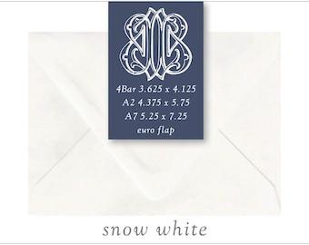 Snow White | 10 Blank Euro Envelopes | A7 • A2 • RSVP