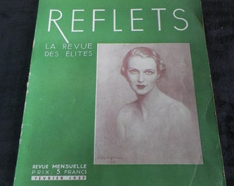 REFLETS french magazine Elites review of February 1937  | Vintage Paris France Presse